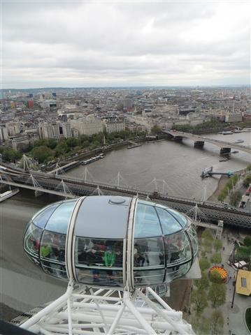 Dans le London Eye