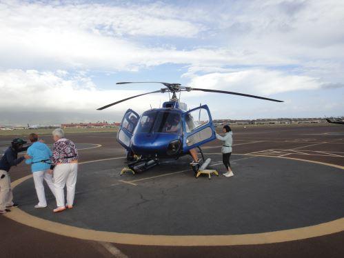 Notre hélico à Maui