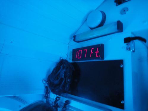 107 pieds sous l'eau en sous-marin
