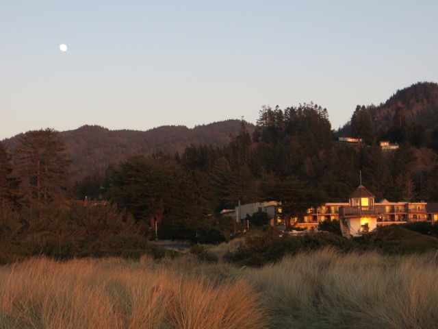 Oregon-Camping vu de la mer